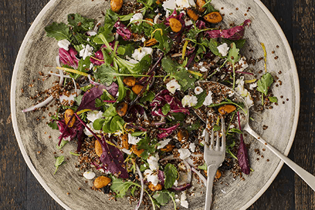 SOUR CHERRY, RED QUINOA & SPICED ALMOND SALAD