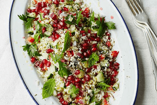 CAULIFLOWER COUSCOUS WITH POMEGRANATE