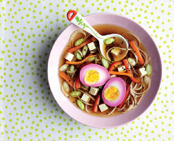 RAMEN WITH PINK EGGS