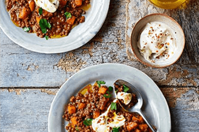 TURKISH PUY LENTILS WITH GOAT'S CHEESE
