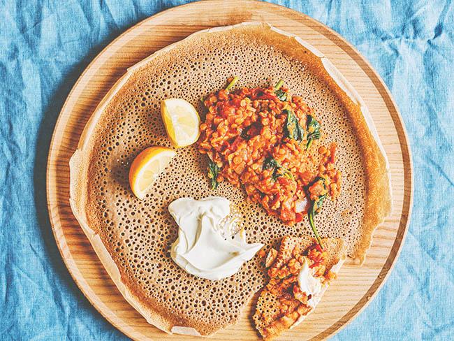 Ethiopian red lentil & tomato curry